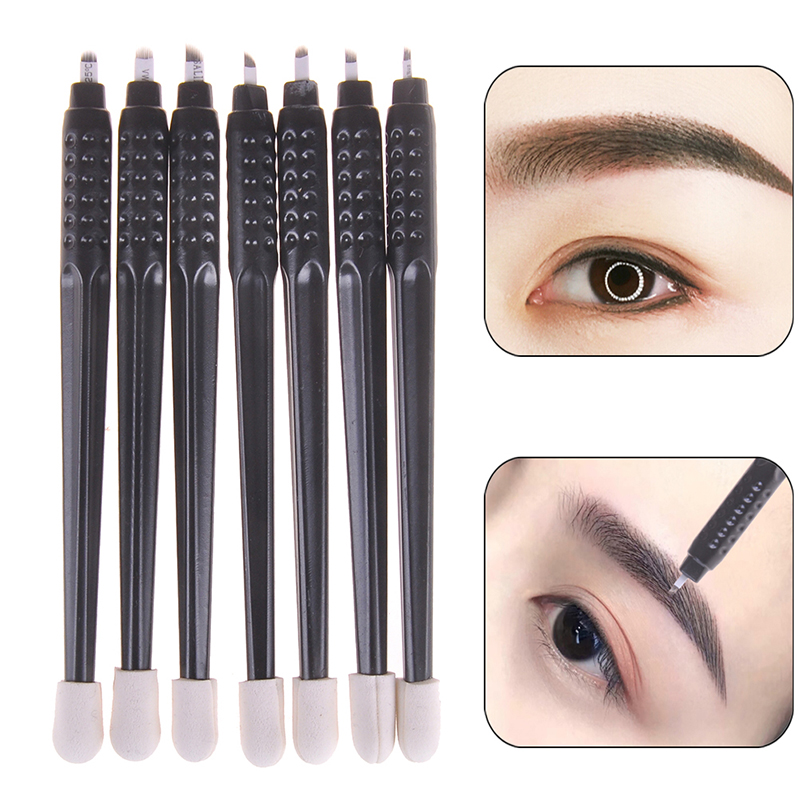 Disposable Tattoo Pen With Needles Eyebrow Tattoo Permanent Makeup F9 F12 F14 U12 U14 U18 Pins Needles Embroidery Blades
