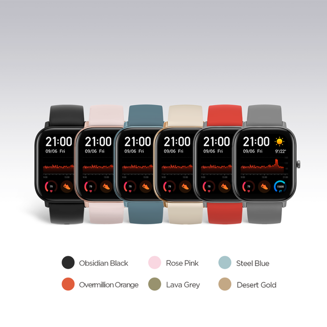 Global Version Amazfit GTS Smart Watch 5ATM Waterproof Swimming Smartwatch NEW 14 Days Battery Editable Widgets for Android 5