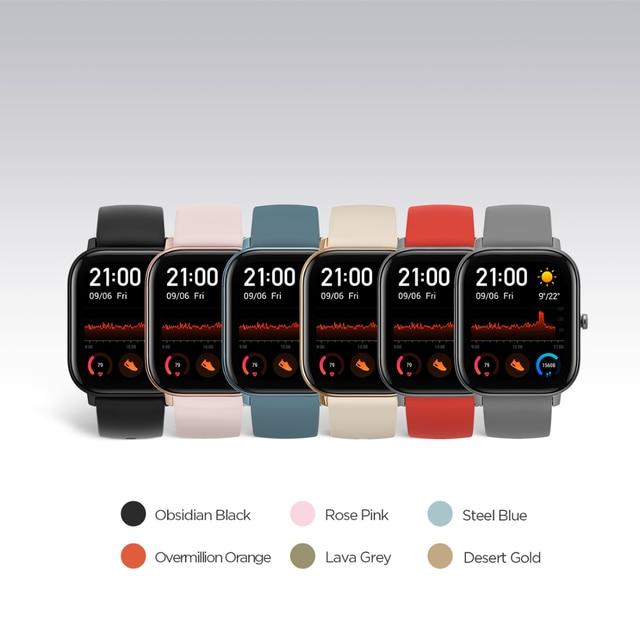 Global Version Amazfit GTS Smart Watch 5ATM Waterproof Swimming Smartwatch NEW 14Days Battery Editible Widgets for Xiaomi 1