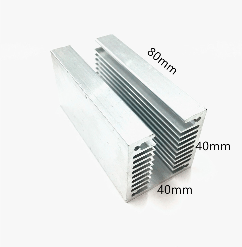 2pcs Aluminum heat sink/Cooling heat sink 40*40-80mm/cpu heat sink/ic heatsink image