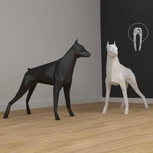 Model Paper Sculpture Animal-Card Home-Decor Model-Party-Gift DIY 3D Dog Dane Wall-Art
