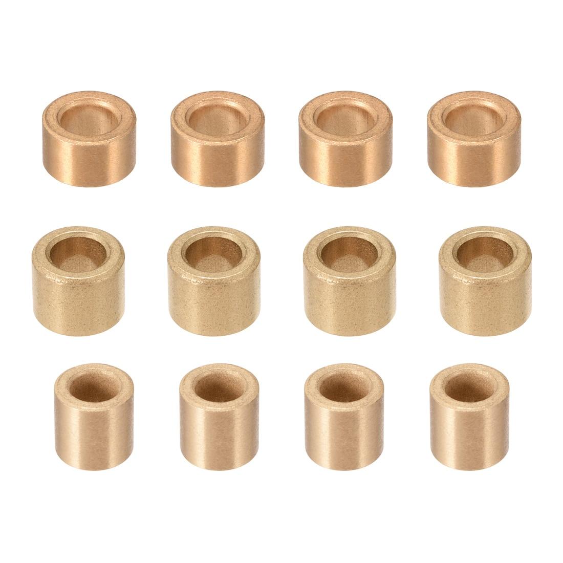 Uxcell 1-10 stücke Selbst Schmier Lager 6mm 8mm ID Hülse Gesinterte Bronze Lager Buchsen