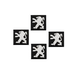 5 pcs 16 milímetro Quadrado de Metal de Alumínio Etiqueta Do Logotipo da Chave Do Carro Para Peugeot 206 207 208 301 307 308 406 407 408 508 607 2008 3008 4008
