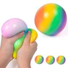 9 см ТПР цветной мяч для отбоя сжимание детей взрослых подростков