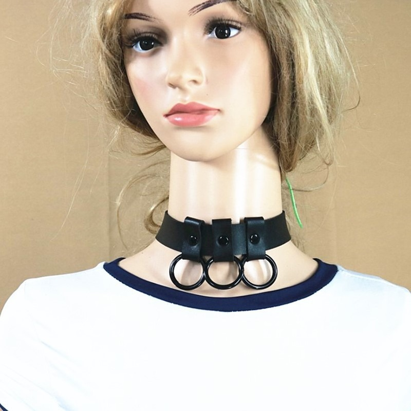 Original 3  annulus  Hip-Hop Trend Couple Punk Necklace Clavicle Necklace Necklace Harajuku Collar Accessories