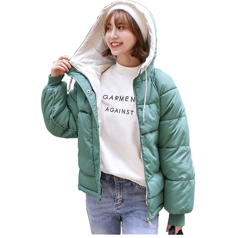 Short Hooded Winter Down Coat Jacket Thick Warm Loose Casaco Feminino Abrigos Mujer Invierno Cotton padded Wadded Parkas 15
