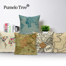 New Square colorful Home Decorative soft seat car cotton Cushion Covers linen letter pure fresh suit cushion almohada L(188)