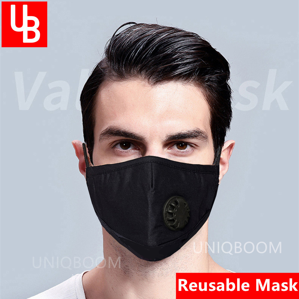 Reusable Face Mask Filter 95% Filtration Anti PM2.5 Dust With Air Valve Respirator Washable Masks KN95 Anti Virus Mouth Muffle