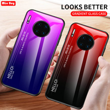 For Huawei Mate 30 Case Mate30 Gradient Tempered Glass Cover Lite Fundas Pro