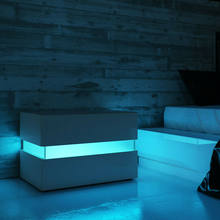 Modern RGB LED Nightstands Bed Side Table Magazine Cabinet Storage Organizer Bedside Table Bedroom Furniture for Night 20 Colors