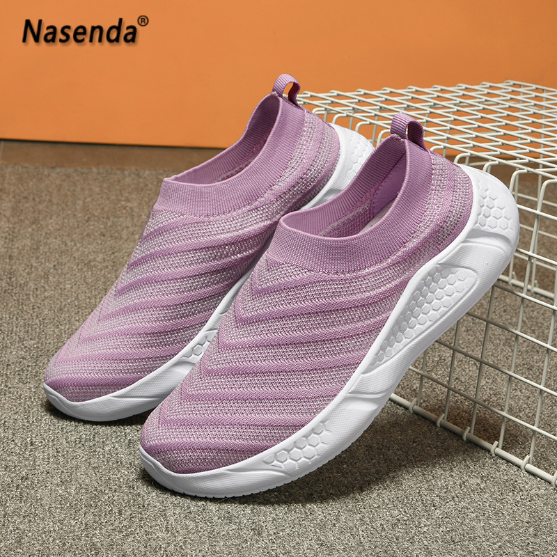 Summer Women Shoes Flats Casual Fashion Ladies Shoes Slip on Breathable Walking Shoes for Woman Comfortable Female Footwear 41