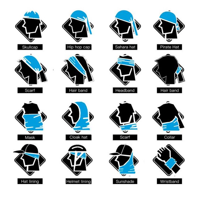 3D Rainbow Color Magic Seamless Bandanas Cycling Headbands Women Men Riding Face Shield Mask Neck Warmer Head Scarf Female Male 5