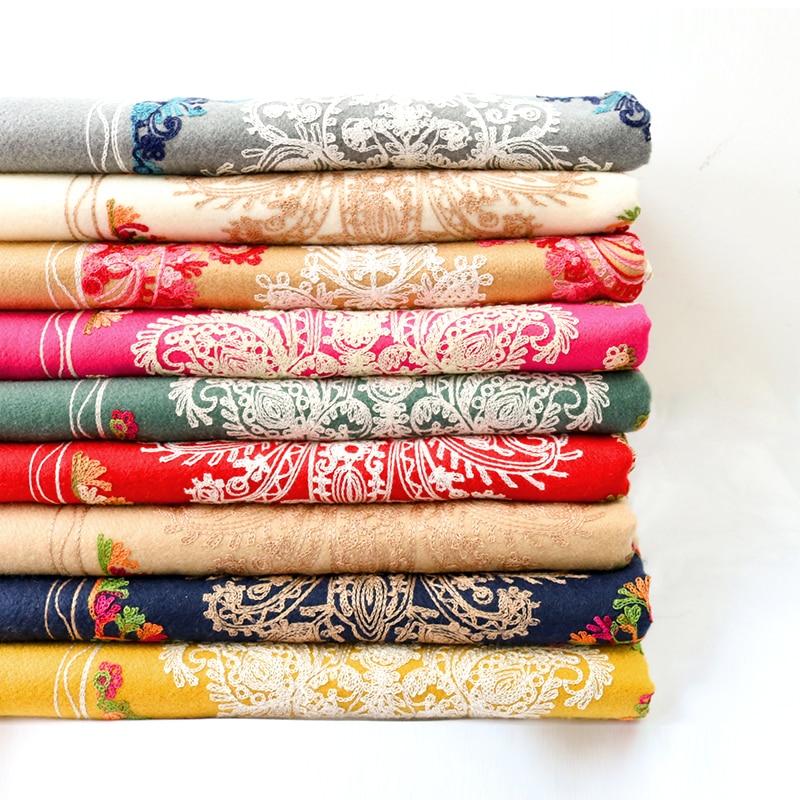 Image 5 - Luxury Brand Cashmere Women Embroidery Scarves Stoles Warm Shawl  Bandana Scarf Muslim Hijab Beach Blanket Face Shield FoulardWomens  Scarves