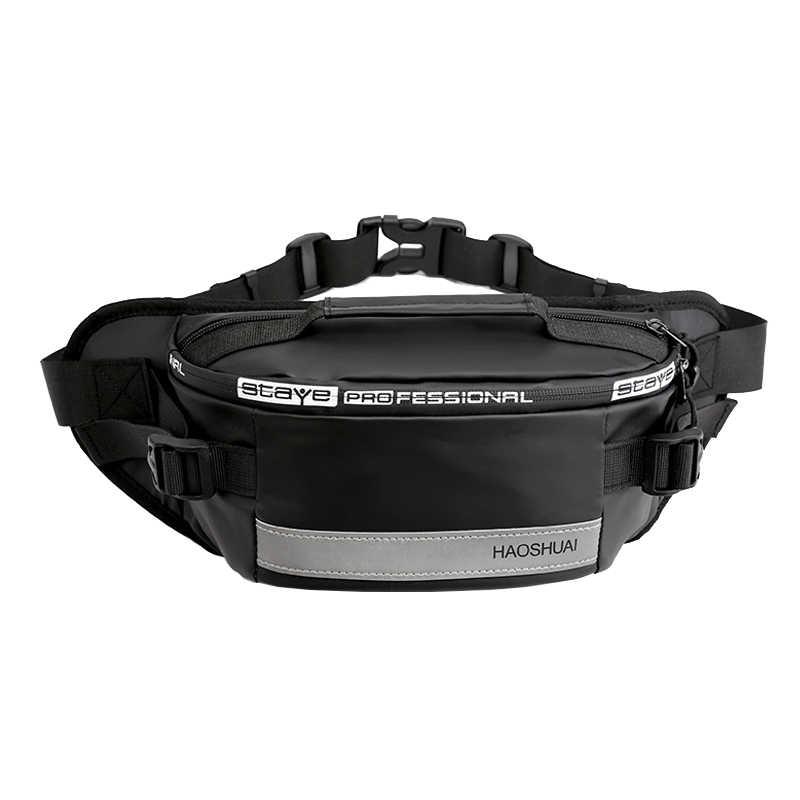 防水ナイロン男性ウエストバッグ 2019 新ファッションユニセックスファニーパック反射バナナベルトバッグカジュアル旅行クロスボディ胸バッグ