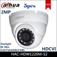 Dahua 1080P Starlight HDCVI Camera HAC HDW1220M S2 DC12V IP67 CVI/TVI/AHD/CVBS output switchable