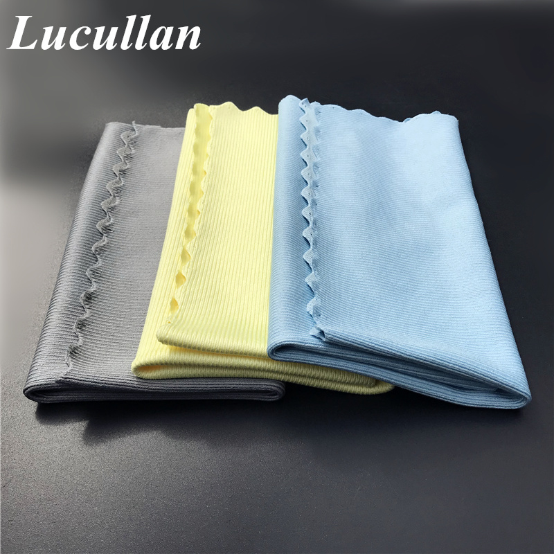 Lucullan 30x40cm Lint Free Car Care Window Mirror Chrome Polishing Towel No Edge Cloth Microfiber Glass Towel