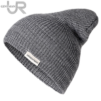 1 Pcs Unisex Hat URGENTMAN Casual Beanie For Men & Women Warm Soft Knitted Winter Hat Fashion Plain Daily Beanie Hat Crochet Cap