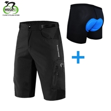Cycling Shorts Men MTB Mountain Bike Ropa Breathable Reflective Loose Fit Outdoor Sports Running Bicycle Riding Downhill Shorts недорого