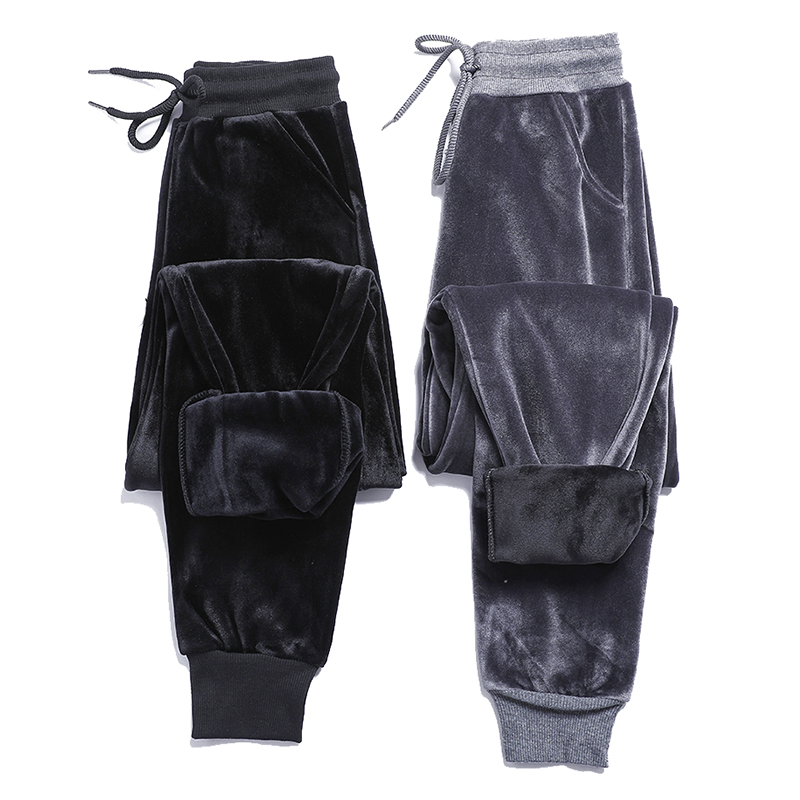 2020 New Plus Velvet Thick Velvet Sweatpants Women Winter Warm BF Wind Harem Pants Casual Pants Wei Pants Trousers