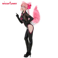 Tamamo no Mae Costume Fate Grand Order Cosplay Tamamo Vitch Secretary Onepiece Jumpsuit Uniform Cosplay Costume with Ears Tail