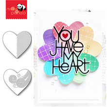 HEART Metal Cutting Dies and Stamps Stencils for Scrapbooking and Card Making Paper Craft 2020 New Embossing die cuts(China)