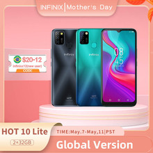 Global Version Infinix Hot 10 Lite 2GB 32GB Mobile Phone 6 6 #8221 HD Screen Smart Phone 5000mAh Battery 13MP AI Triple Camera cheap Not Detachable Other CN(Origin) Android Fingerprint Recognition Face Recognition Nonsupport english Russian French POLISH
