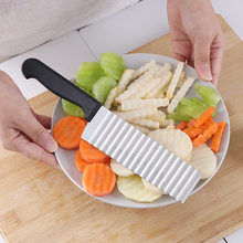 long hand Wavy Cutter French Fries Stainless Steel Potato Slicer Vegetable Chopper Veggie Durable Kitchen Gadgets Tools