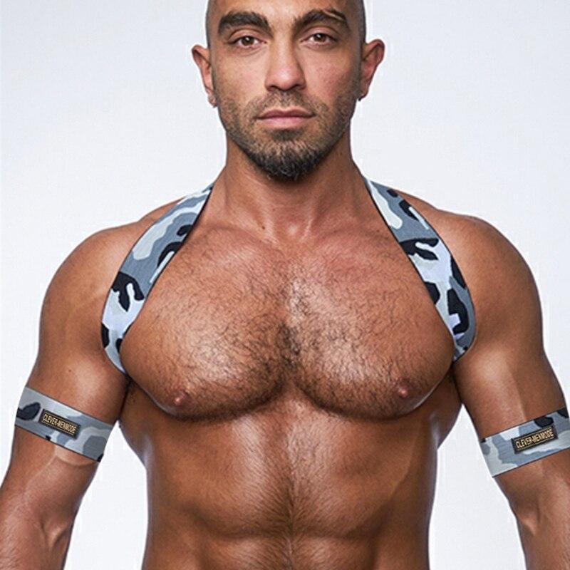 Shoulder Chest Harness Men Sexy Body Elastic Strap Halter Lingerie Arness Hombre Stage Clubwear Performance Wear Bondage Costume