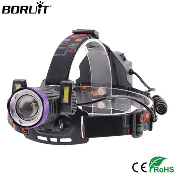 Налобный фонарь BORUiT XQ-167 XML T6, светодиодный, 4 режима, масштабируемый, USB зарядное устройство, фонарик, для рыбалки, кемпинга