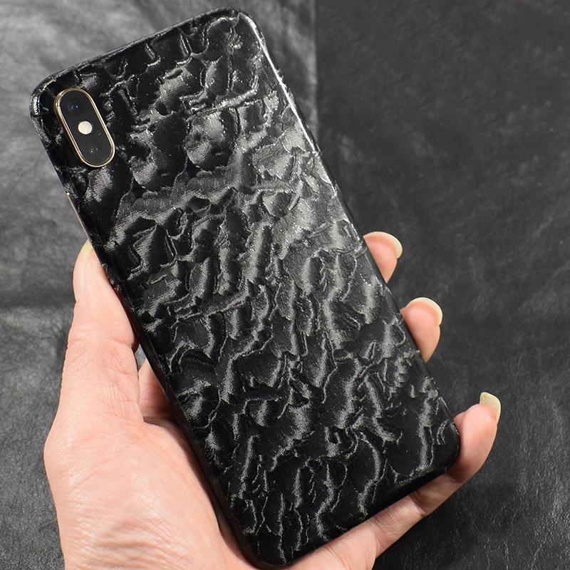 Transparent 3D Carbon Fiber Skins Film Wrap Skin Phone Back Sticker For iPhone 1