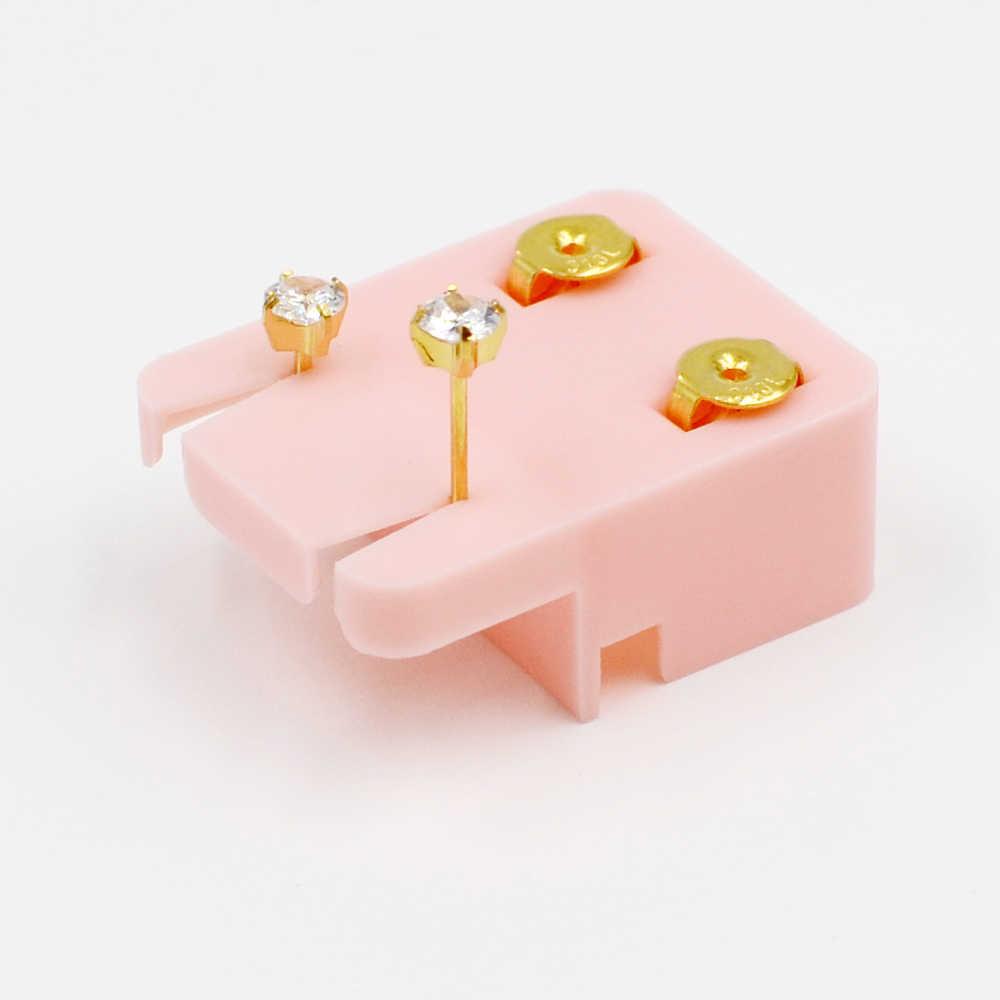 1 زوج أكثر آمنة 24K الذهب تصفيح الجراحية الصلب الأذن ترصيع Dispossable EO العقيمة الأقراط الغضروف الزنمة ثقب مجوهرات للجسم