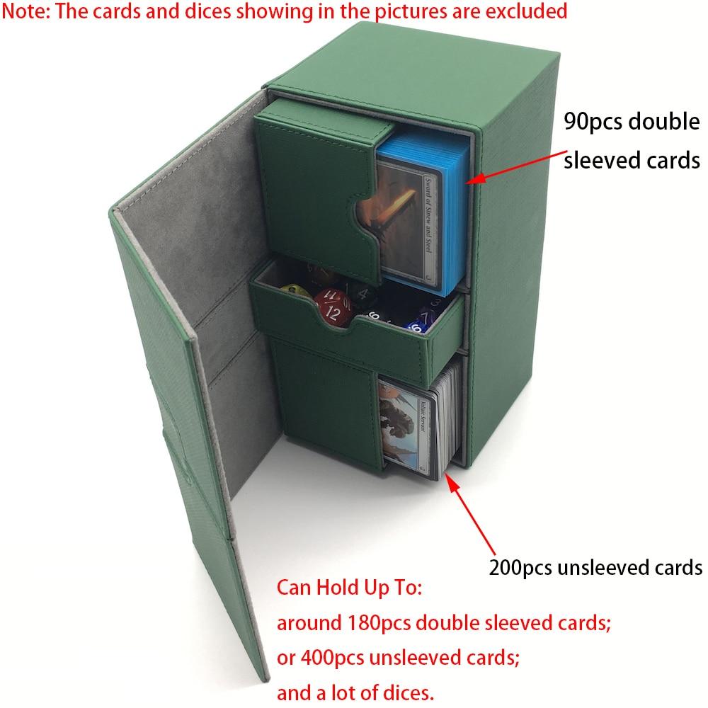 cartões de jogo de tabuleiro caixa: preto e verde cor