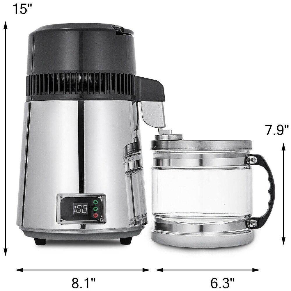 Destilador de água digital temperatura controlada 4l