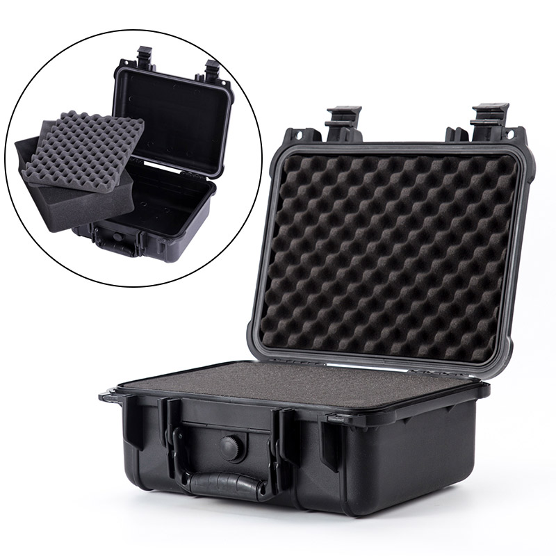 Waterproof Safety Sealed Case Instrument Protective Hidden Safes Box Shockproof Portable Big Suitcase W/sponge Plastic Tool Box