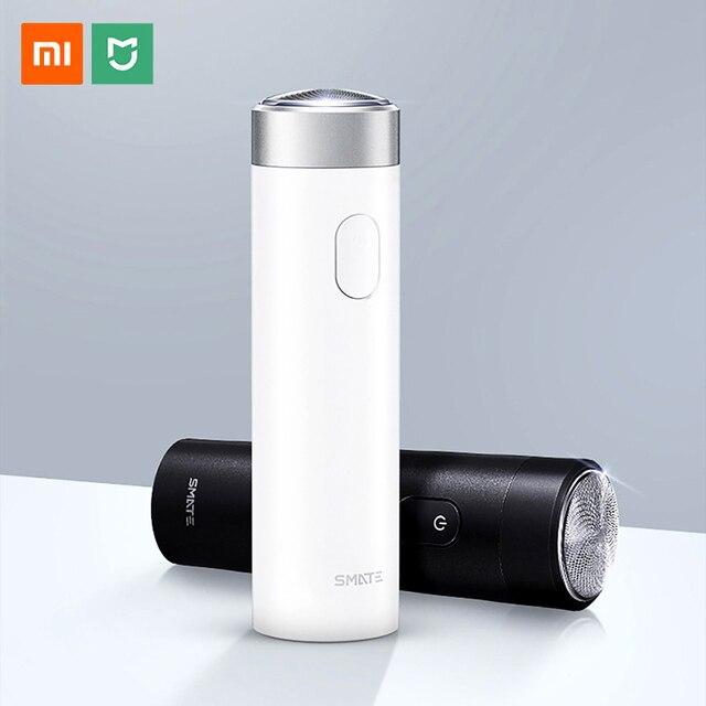 Xiaomi Smate חשמלי לגברים USB נטענת יבש רטוב גילוח מכונת בירד שיער גוזם IPX7 רחיץ אחד להב