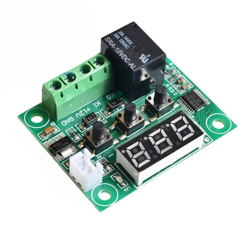 1 шт. W1209-50-100C DC 12V цифровой регулятор температуры Термостат контроль температуры термостат переключатель пластины W1209 чехол