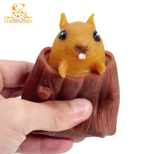 Evil Squirrel Toys Squeeze Decompression Funny Tree Stump Cartoon Animal Anti Stress Relief Soft Interesting Squishy Adult Gifts