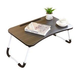Image 1 - Escritorio para ordenador portátil, cama multifunción, mesa pequeña plegable, para dormitorio, estudio, para el hogar