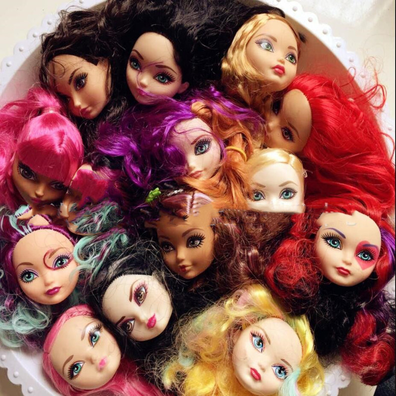 Original Rare Face Quality Doll Heads Monstering Doll Toy Head Good Makeup Doll Head Parts Girl Dressing DIY Toy Parts Kid Gifts