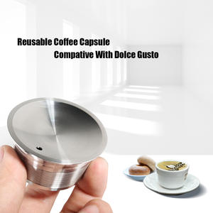 Coffee-Maker Capsules Refillable KRUPS-FILTER Dolce Gusto Stainless-Steel Nescafe Metal