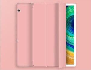 Умный чехол для Huawei MediaPad T5 10, складной чехол-подставка из искусственной кожи MediaPad T5 10,1 дюймов, Фото/L09/L03/W19, чехол для планшета + пленка + ручка