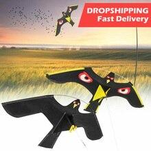 VOGVIGO uccello Scarer emulazione Flying Hawk Drive aquilone per uccelli per giardino spaventapasseri cortile brezza domestica facile da volare repellente per uccelli