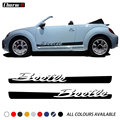 2 шт. Стайлинг автомобиля дверь боковые полосы Корпус виниловые наклейки для Volkswagen Beetle 2011-подарки графические наклейки аксессуары