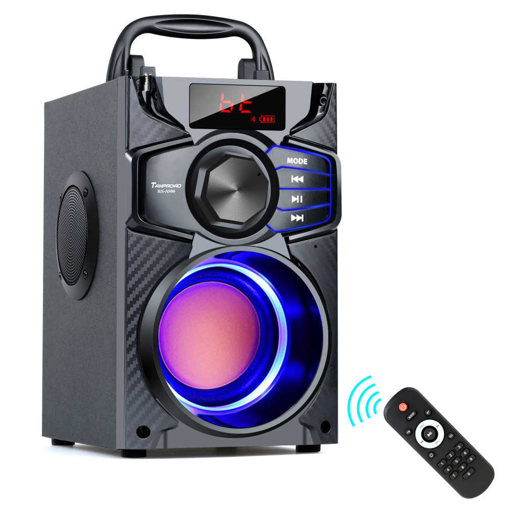 TOPROAD Bluetooth Speaker 10W Portable Wireless Stereo Bass Pesta Besar Speaker Subwoofer Kolom Mendukung FM USB Remote Control