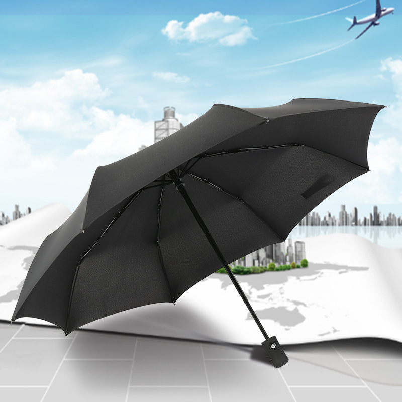 Wholesale Retail 8 Bone Three fold Umbrella Rain Or Shine Dual Purpose Automatic Umbrella from the Open Close Folding Umbrella A|  - title=