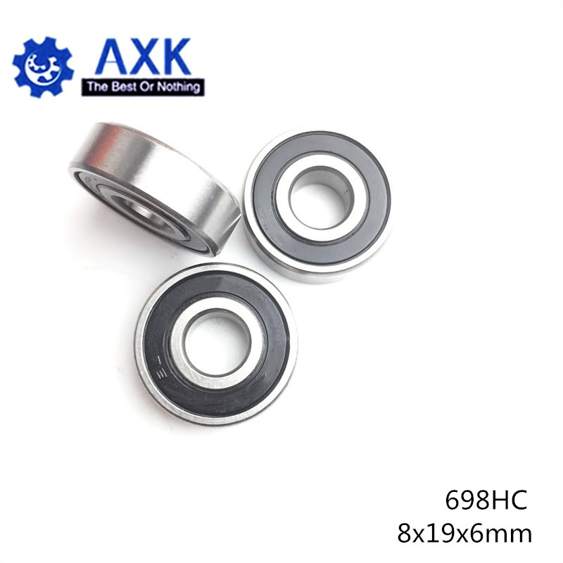 698 Hybrid Ceramic Bearing 8*19*6 mm ABEC-1 ( 1 PC) Industry Motor Spindle 698HC Hybrids Si3N4 Ball Bearings 3NC 698RS image