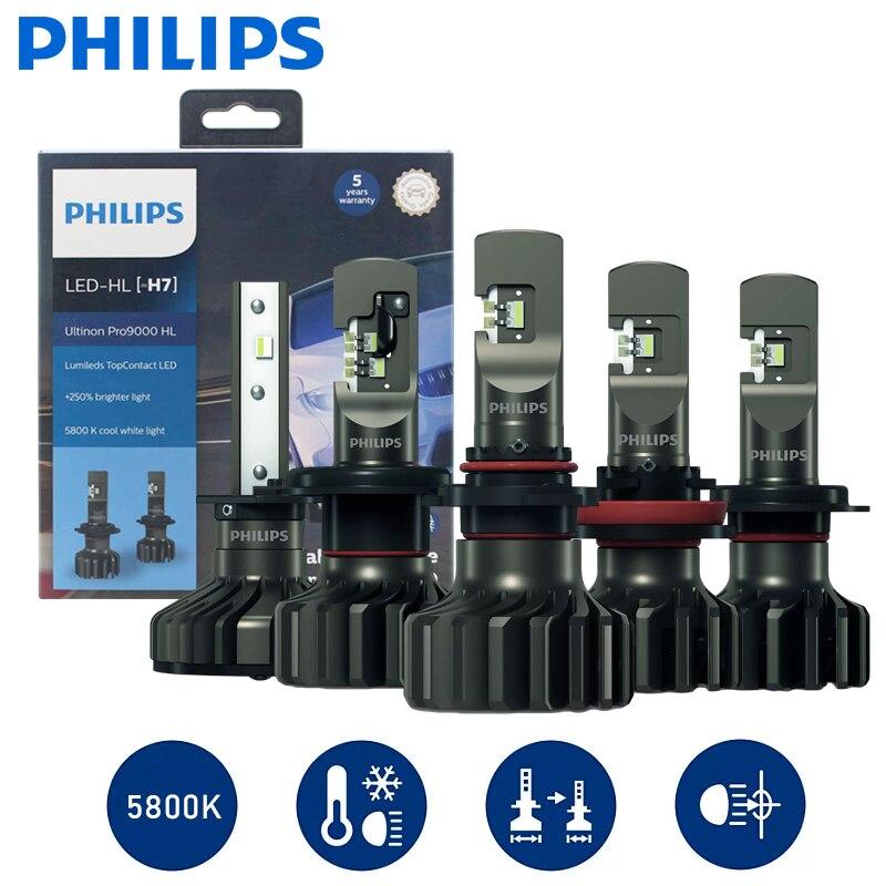 Philips Ultinon Pro9000 HL светодиодный головной светильник s 13,2 V 5800K 15W 18W H1 H4 H7 H8 H11 H16 HB3 HB4 9012 до 250% ярче светильник 2 шт.