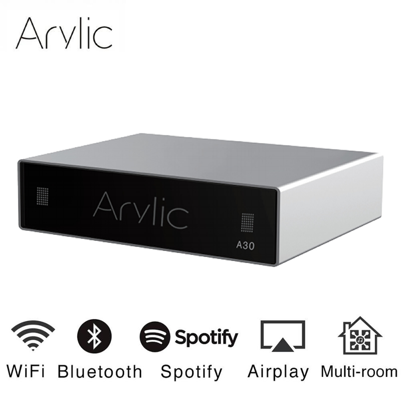 Arylic A30 WiFi And Bluetooth 5.0 Mini Home Amplifier HiFi Stereo Class D Digital Multiroom With Spotify Airplay Equalizer