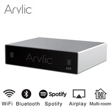Akrilik A30 WiFi ve Bluetooth 5.0 Mini ev amplifikatör HiFi Stereo D sınıfı dijital multiroom ile Spotify Airplay ekolayzır(China)