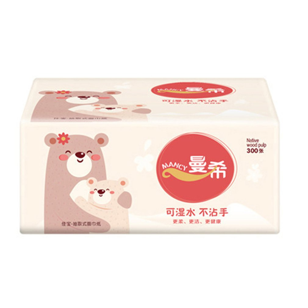 Napkin Paper Yellow Bear Advertising Custom Paper Single Paper Pumping Toilet Paper Virgin Pulp Paper 10 Bag